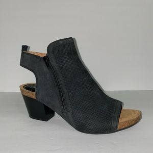 Sofft Suede Peep Toe Ankle Bootie